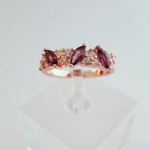 Jewelry - Burgundy and Rose Gold Ring